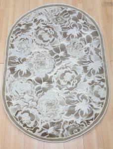 Ковер KRC Carpet pegas 3861а кремовый/кремовый овал, 0.60*1.10