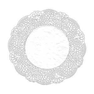 66325 Салфетка бумажная классик круг (250 мм), 2000 шт.