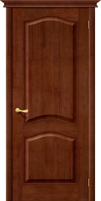 Межкомнатная дверь Белорусские двери М7 темный лак из массива, Глухая / 800x2000 / Комплект
