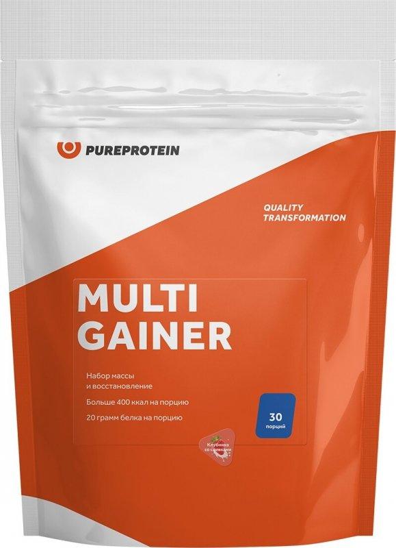 Гейнер PUREPROTEIN Pure Protein Multi Gainer - Клубника со сливками 3000 г