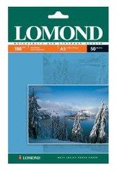 Фотобумага Lomond 0102068 A5/180г/м2/50л./белый матовое для струйной печати