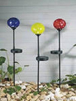 Фонарь садовый «3 разноцветных шара» (количество товаров в комплекте: 3)