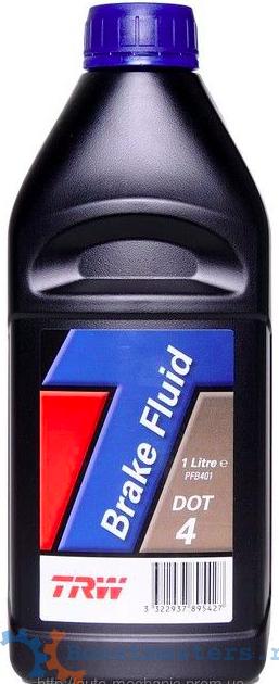 Тормозная жидкость TRW DOT 4 1л (PFB401)
