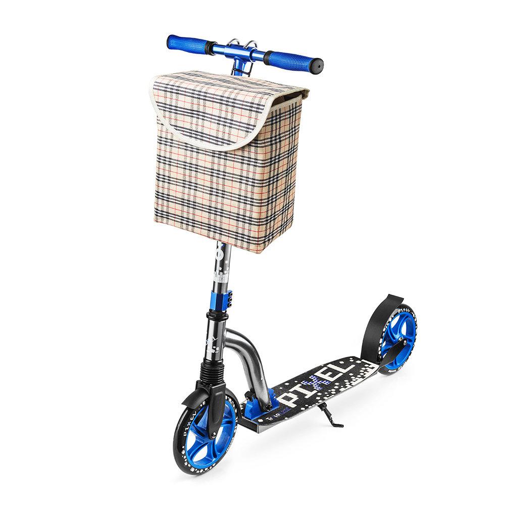 Сумка на руль самоката или велосипеда аксессуары, клетка светлая