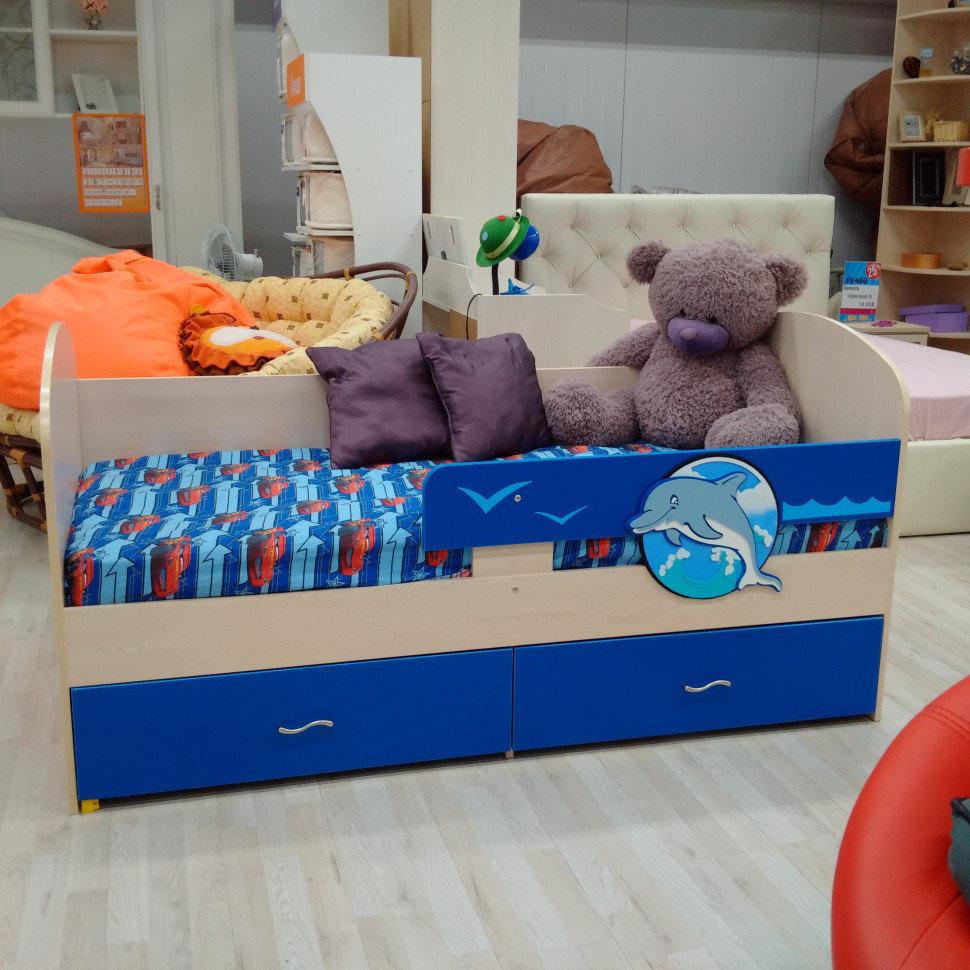 Кроватка детская Дельфин под матрас 80*170 (Розовый)
