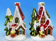 Winter Wings Подсвечник ДОМ деда мороза, со свечой, 11 см, керамика