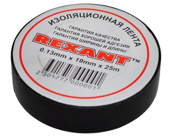 Расходный материал REXANT Изолента 19мм х 25м черная (09-2206)