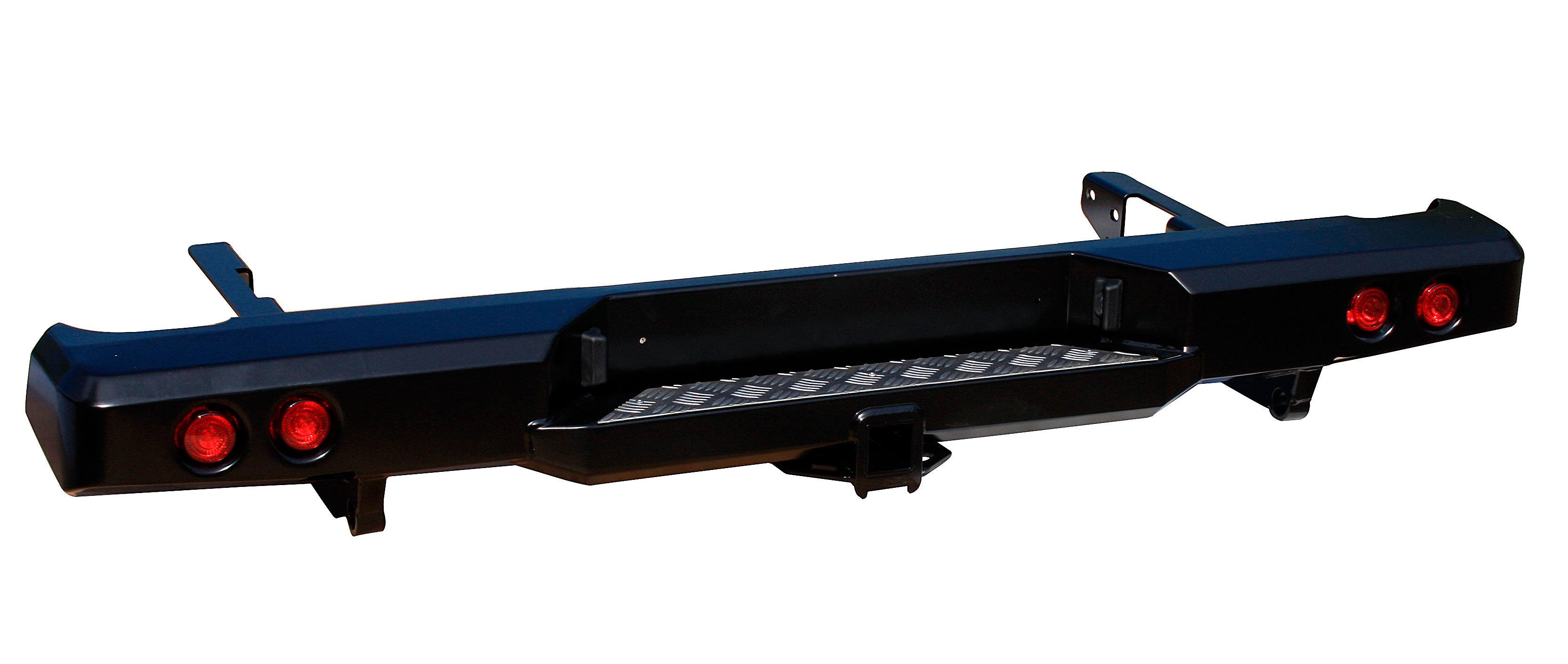 Бампер задний силовой с квадратом и фонарями для Toyota HILUX