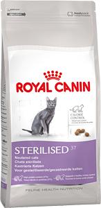Сухой корм для кастрированных котов и стерилизованных кошек Royal Canin (Роял Канин) Sterilised 37 с 1 до 7 лет, 4кг
