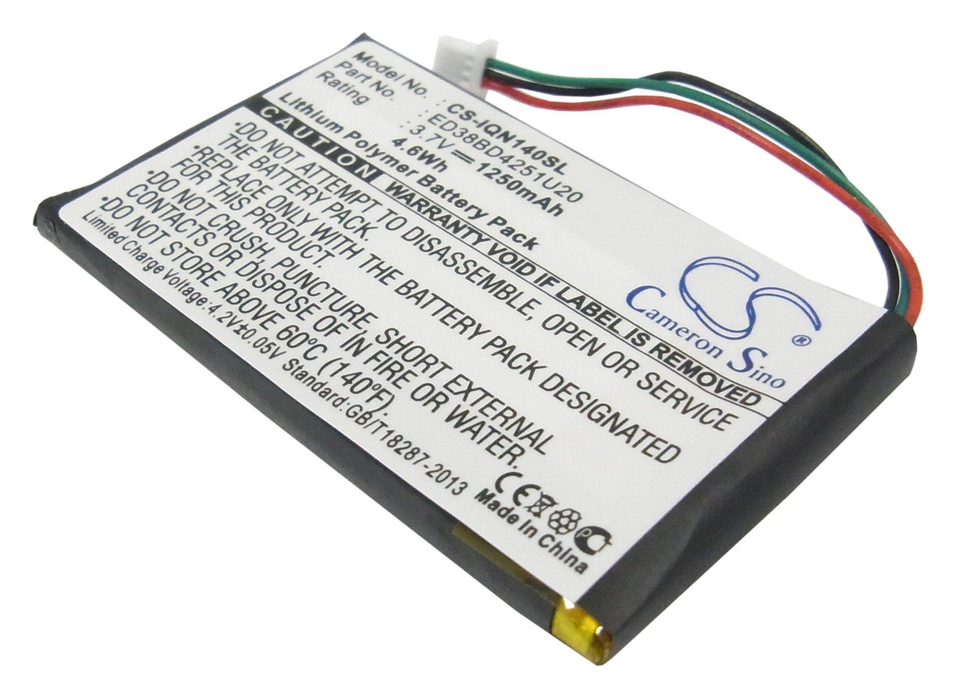 Аккумулятор для GPS-навигатора Garmin 3,7V 1250mAh код 008.01002