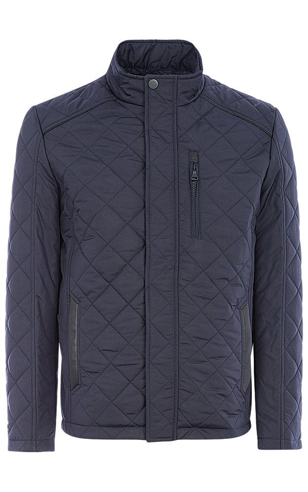 Куртка на синтепоне с отделкой экокожей