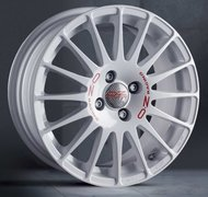 Колесные диски OZ Racing SUPERTURISMO WRC WHITE RED LETTERING 7x16 4x108 ET25 d65,1 - фото 1