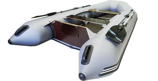 Хантер 320 ЛК килевая, со сплошным фанерным полом со стрингерами - моторная надувная лодка ПВХ