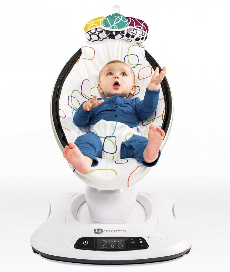 Детское электронное кресло-качалка 4moms Mamaroo мульти плюш