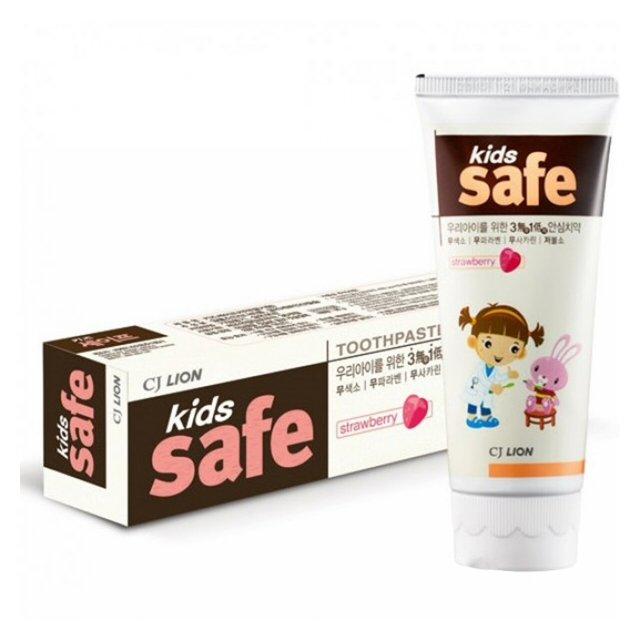 паста зуб. lion kids safe 3-12 лет детская со вкусом клубники 90г