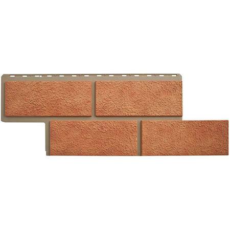 Цокольный сайдинг (фасадные панели) Неаполитанский камень персиковый (45см)