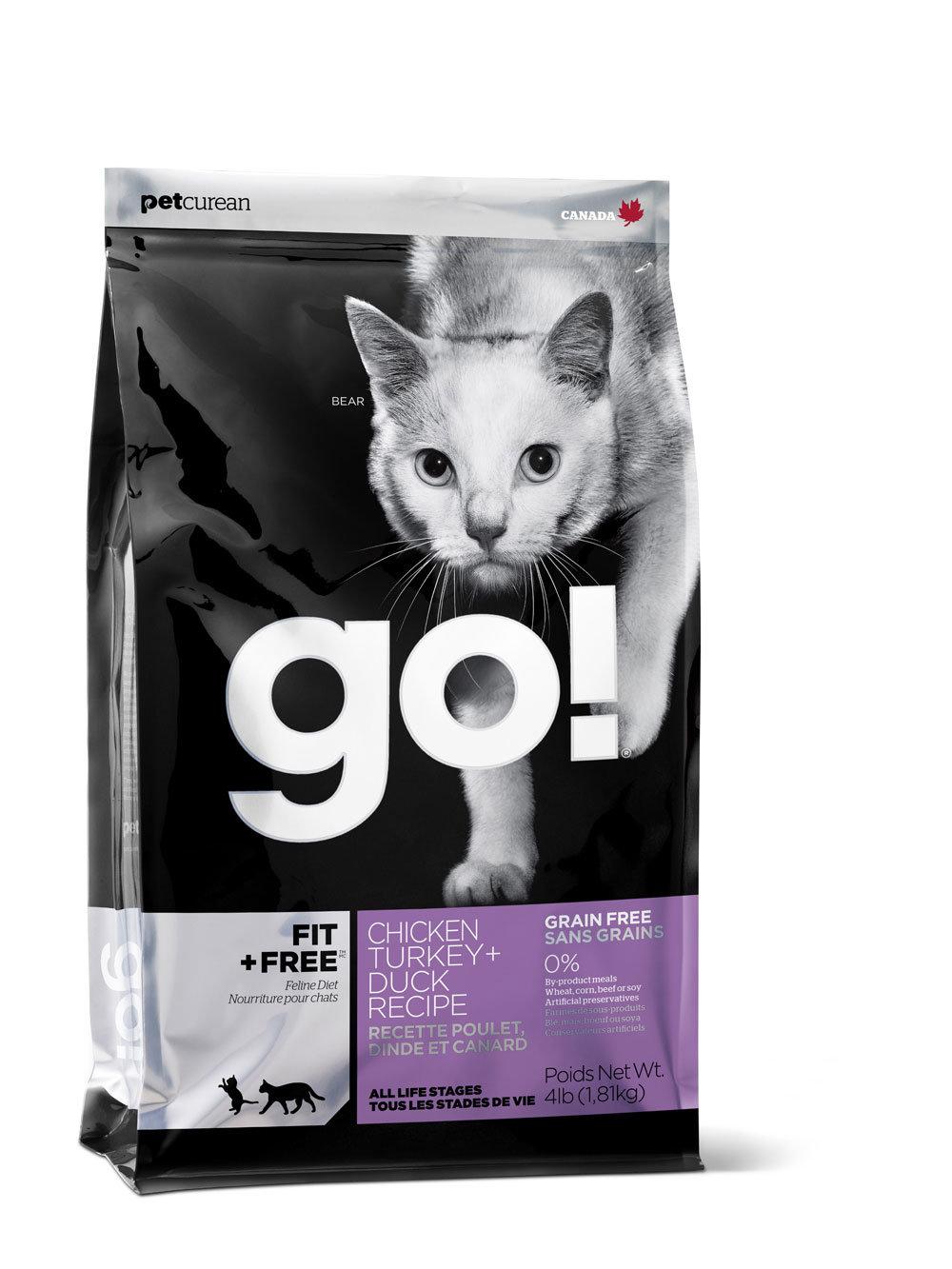 Сухой корм для кошек и котят GO! Natural 4 вида мяса: курица, утка, индейка и лосось 7,26кг