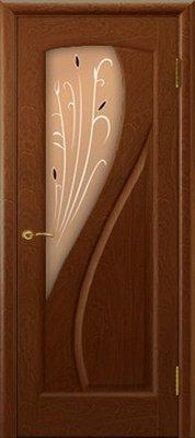 Межкомнатные двери Ульяновские Двери Модель Мария Красное дерево со стеклом