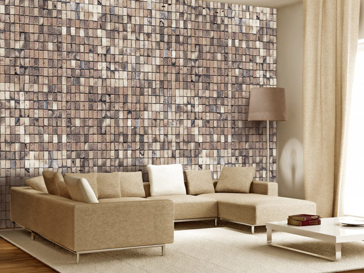 Фотообои «Кирпичная мозаика», 150x105 см