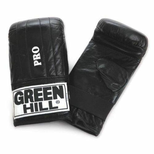 Перчатки снарядные GREEN HILL PRO (M, кожа, синий)