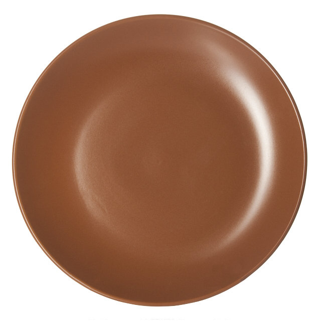 тарелка коричневый 25,5см обеден. керамика коричн.
