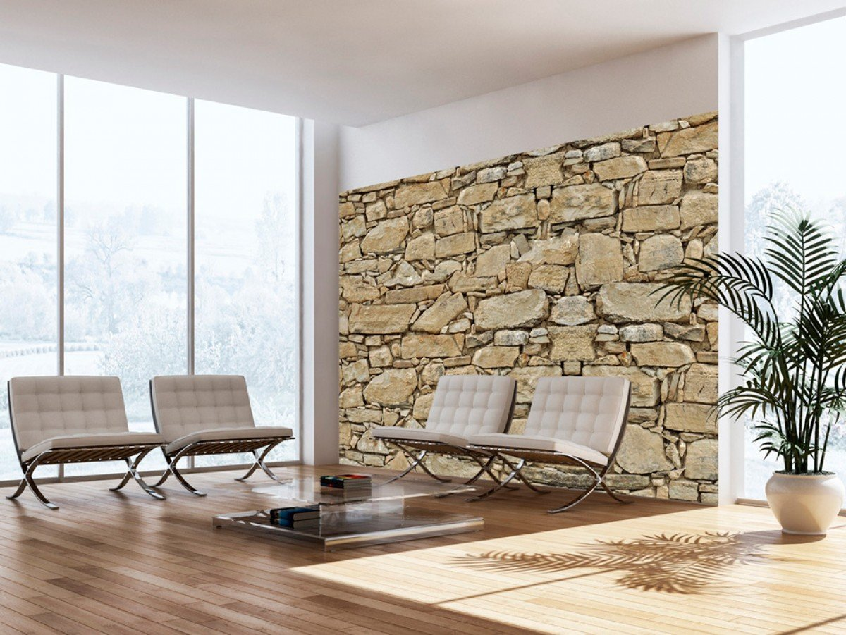 Фотообои «Каменная стена», 150x105 см