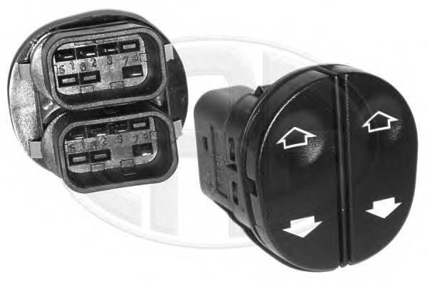 Кнопка стеклоподъемника переднего левого ford fiesta 1.25-2.0/fusion 1.25-1.6 01 Era 662220