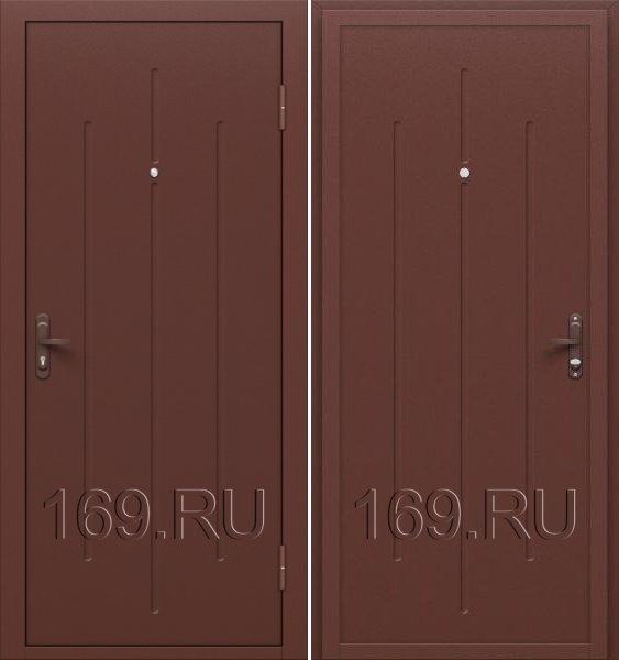 Дверь входная металлическая «Стройгост 5-1» Антик Медь