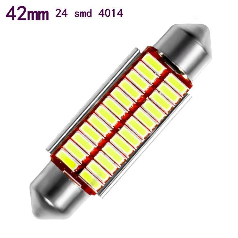 Авто лампа светодиодная c декодером 42 мм, C5W ,4014 , 6 Ватт