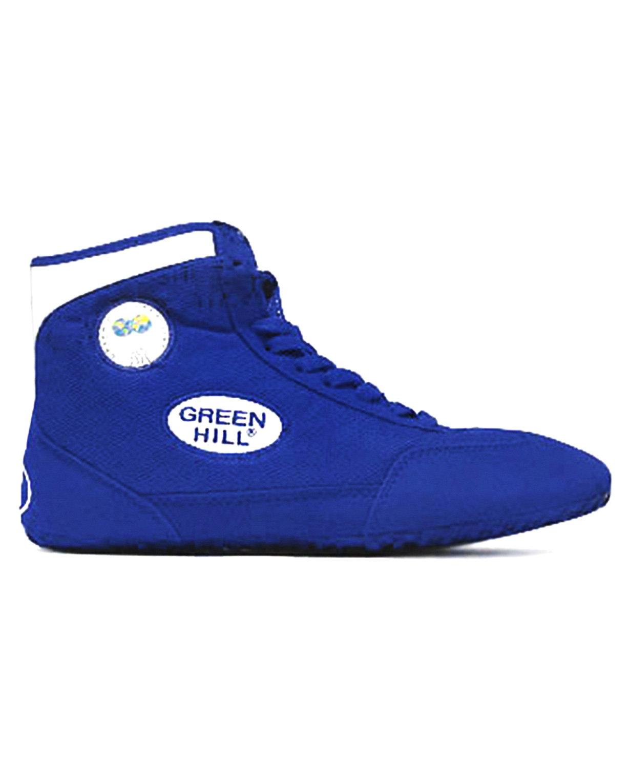 Обувь для борьбы Gwb-3052/gwb-3055, синяя/белая размер 36