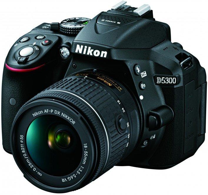 Фотоаппарат зеркальный Nikon D5300 KIT AF-P DX 18-55mm VR, black
