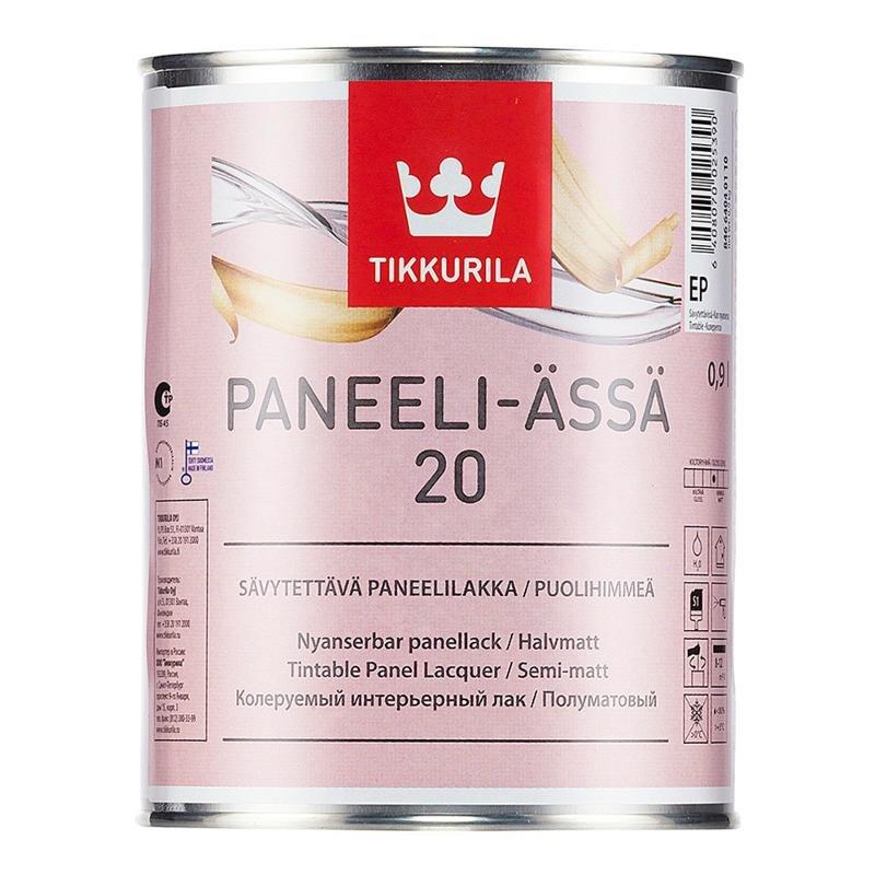 Лак Tikkurila Paneeli-Assa 20 интерьерный, полуматовый EP 0,9л