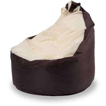 Кресло-мешок комфорт 145x90x90, Оксфорд Коричневый и бежевый