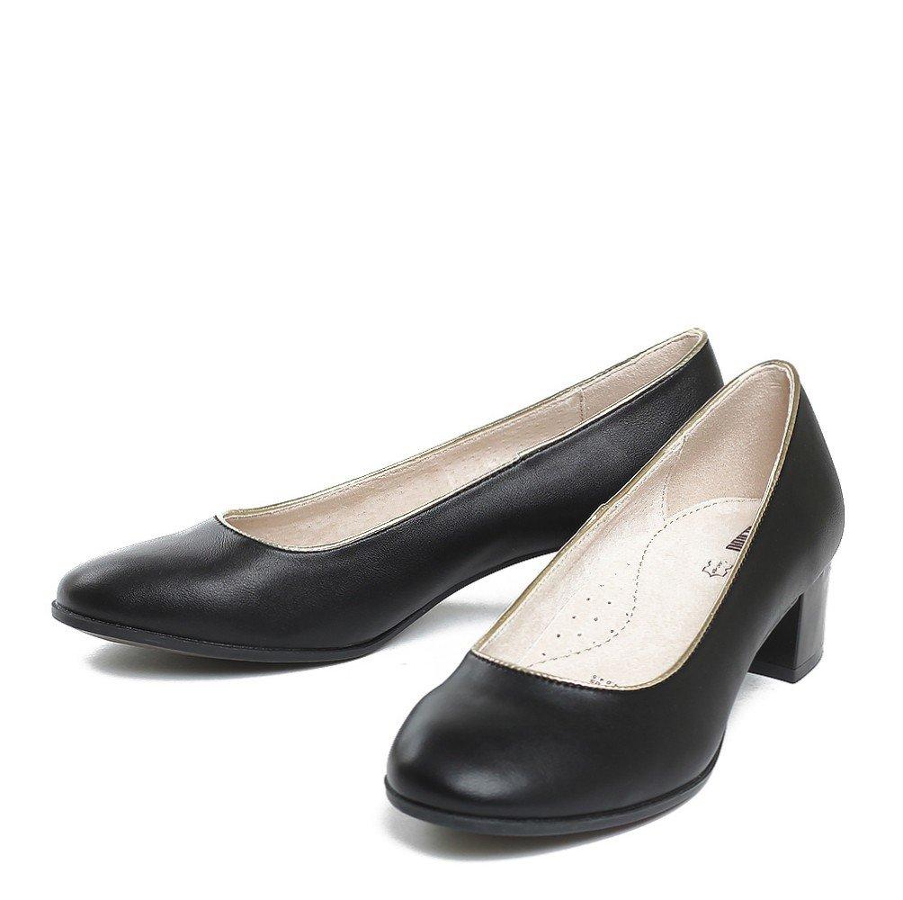 Туфли Черные детские туфли KEDDO на широком каблуке