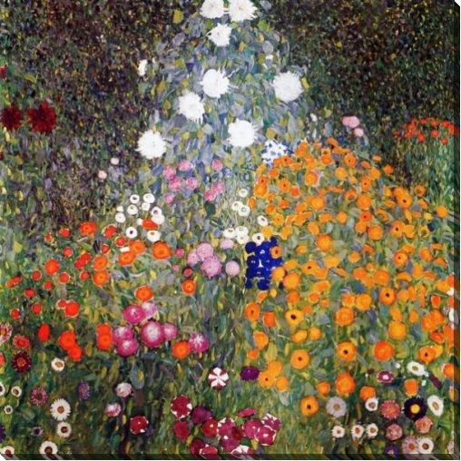 Картина Цветущий сад, Климт Густав, 142x142, Цветы, Цветы в природе, Австрийская