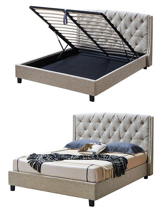 Кровать Evita Grand 180x200 (с подъемным механизмом), кремовый