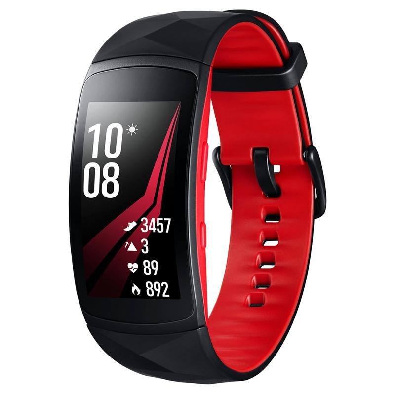 Фитнес-браслет Samsung Gear Fit2 Pro, SM-R365NZRNSER, черно-красные, S