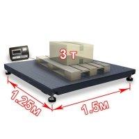 Смартвес Весы «ВП-3000» платформенные до 3000 кг платформа 1250х1500 мм