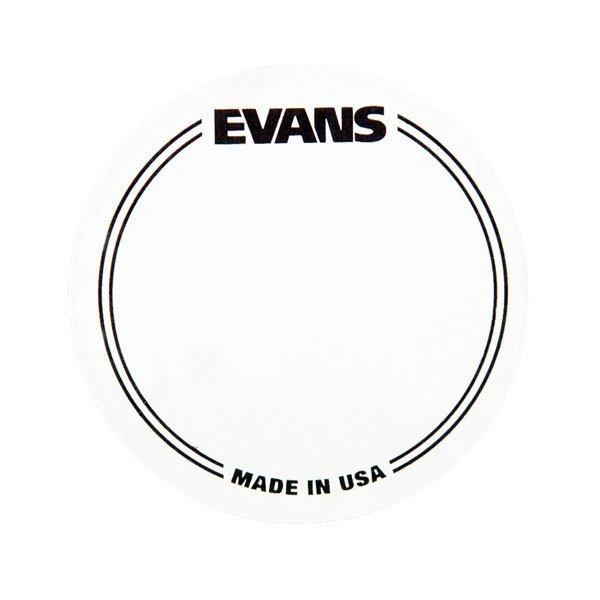 EVANS EQPC1 Прозрачные наклейки под педаль на пластик бас-барабана 2 шт./упак