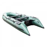 Надувная ПВХ лодка HDX Classic 370 с пайолом, цвет зеленый (79783)
