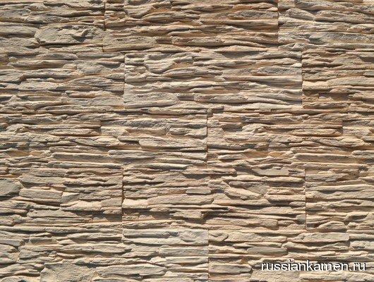 Искусственный камень Сланец тонкослойный Песочный 1м2