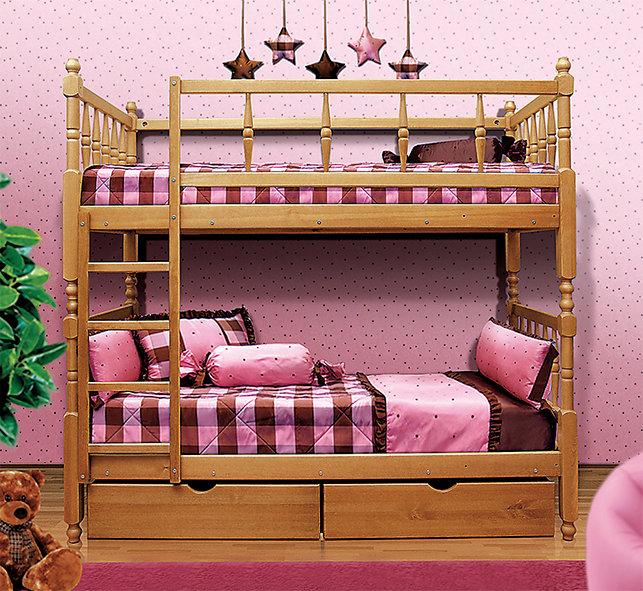 Детская двухъярусная кровать Мечта Вишня (Фант)