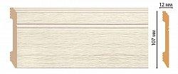 Плинтус напольный из полистирола Декомастер D105-1070 (107*12*2400мм)