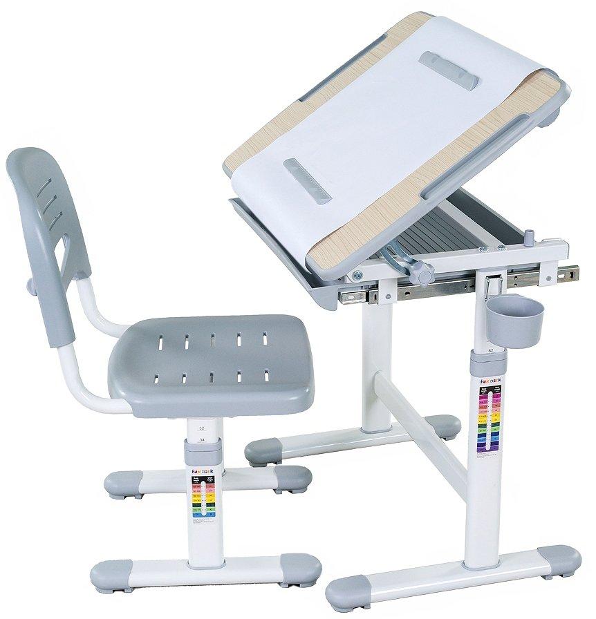 Парта Fundesk bambino grey парта и стул-трансформеры