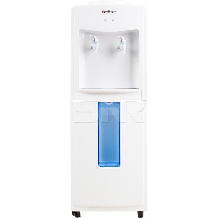 Кулер для воды HotFrost V118 R, напольный, без нагрева/без охлаждения, 2 крана, белый, 120311804