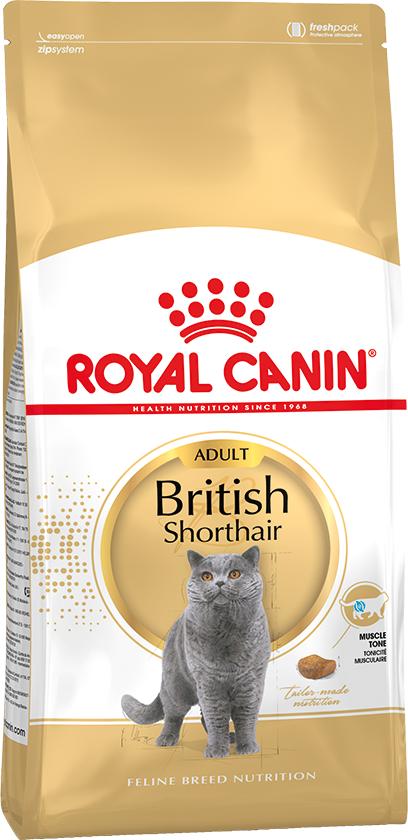 Корм Royal Canin British Shorthair Adult для кошек породы Британская короткошерстная с 12 месяцев, взрослые (1-6 лет), 2 кг