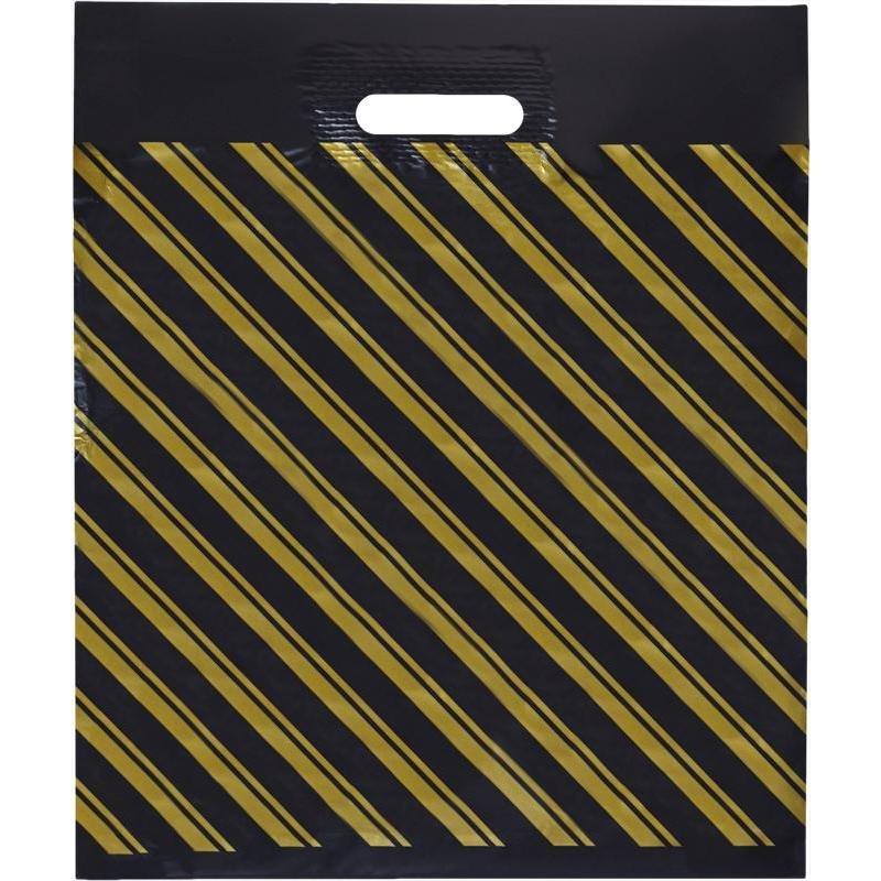 """Пакет полиэтиленовый с вырубной ручкой """"Золотая полоса"""", ПВД, 40х47 см, 55 мкм, 50 штук"""