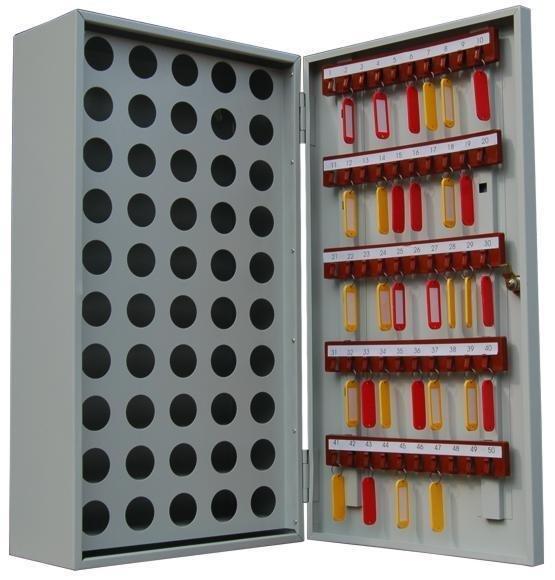 Ключница настенная металлическая КЛ 50П для ключей и пеналов Меткон