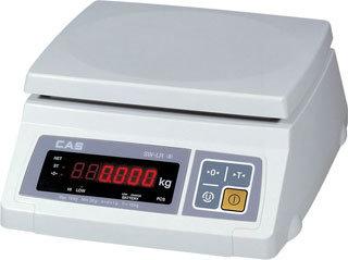 Весы фасовочные CAS SWII-DD-5, 5 кг/1г. Два ярких светодиодных дисплея