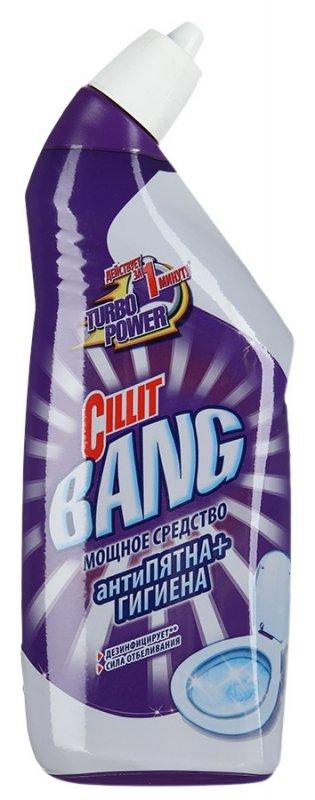 Средство чистящее CILLIT BANG дезинфицирующее для туалета Антипятна+Гигиена Сила отбеливания 750мл
